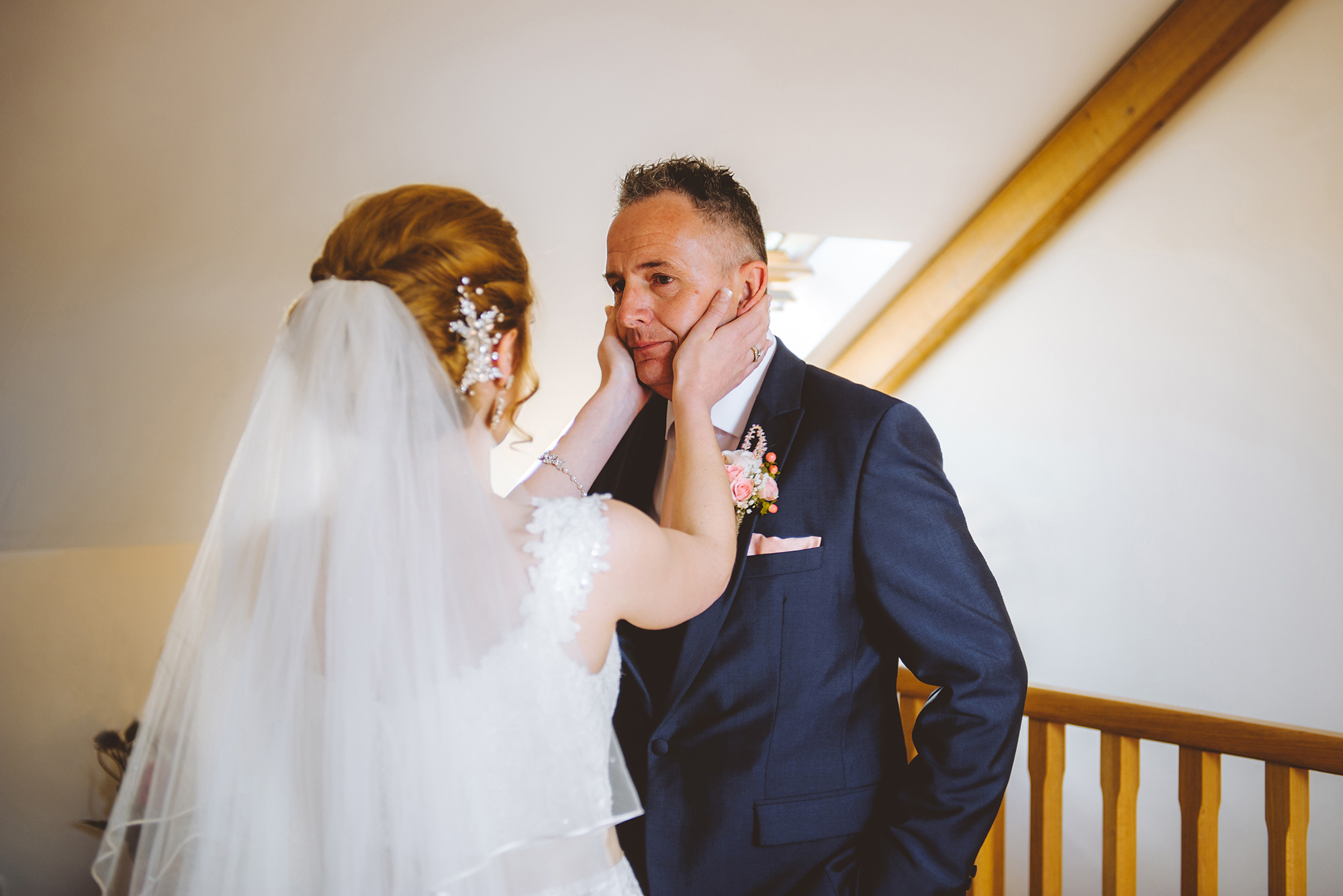 Father of the bride and daughter. Gareth Jones Photography