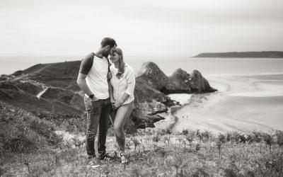 Three Cliffs Bay Pre Wedding Photography – Sarah & Craig