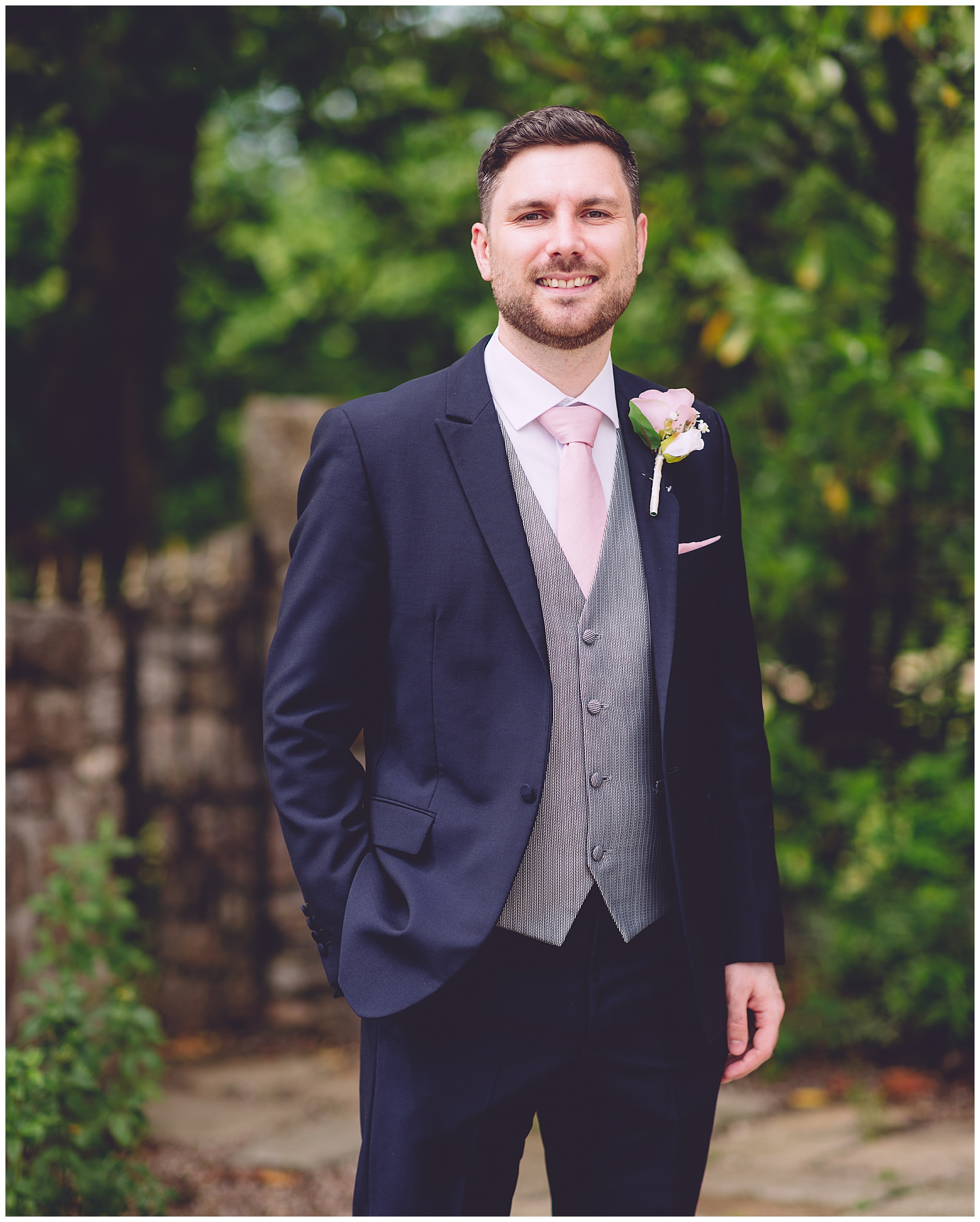 Groom at King Arthur Wedding