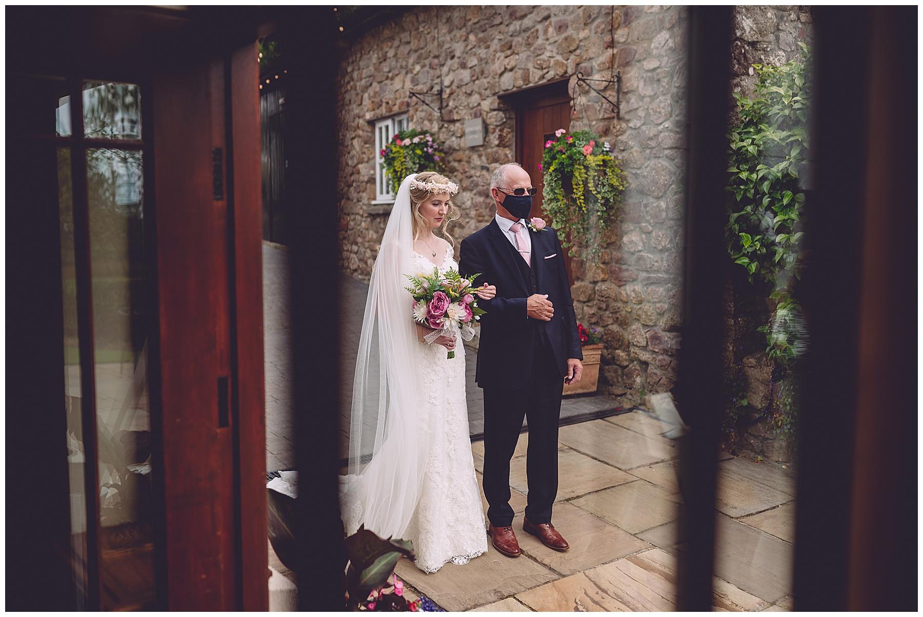 Bride Arriving at King Arthur Wedding