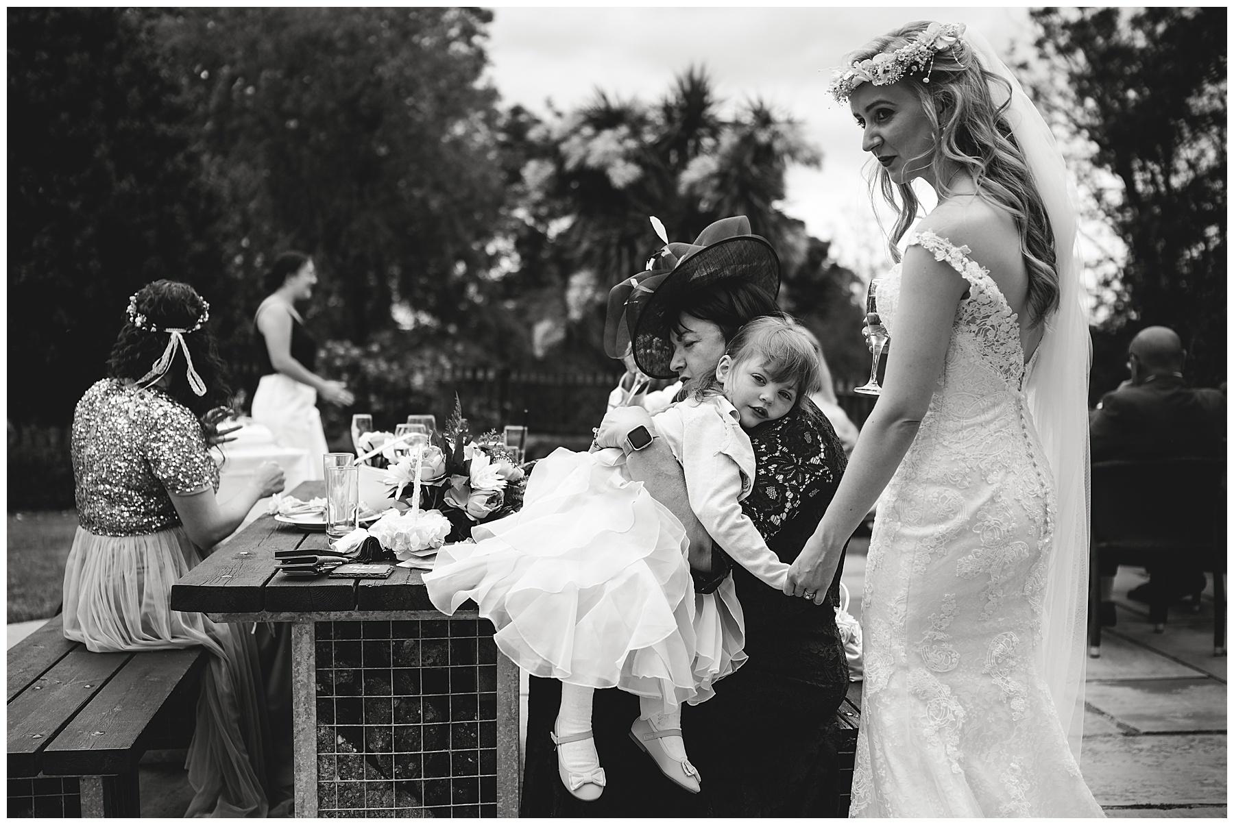Bride at King Arthur Wedding