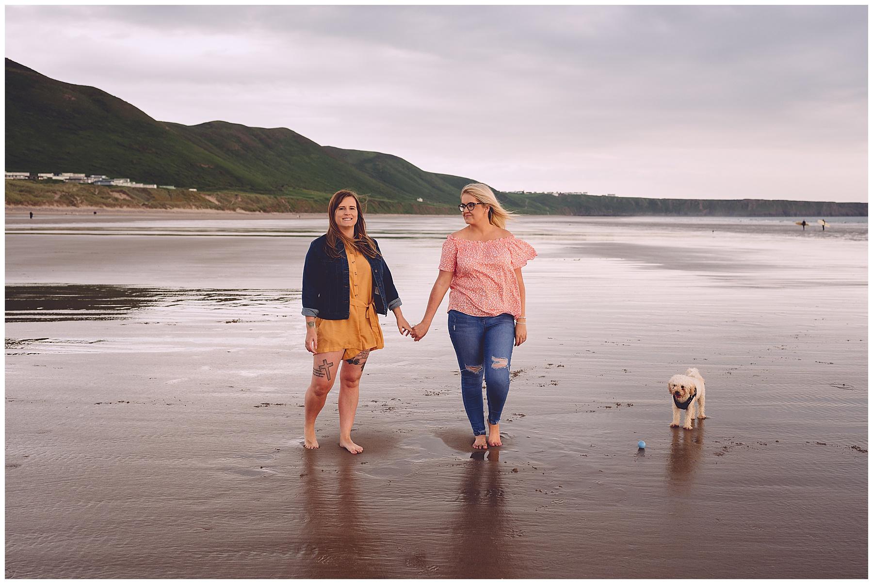 Engagement Photos at Llangennith Beach