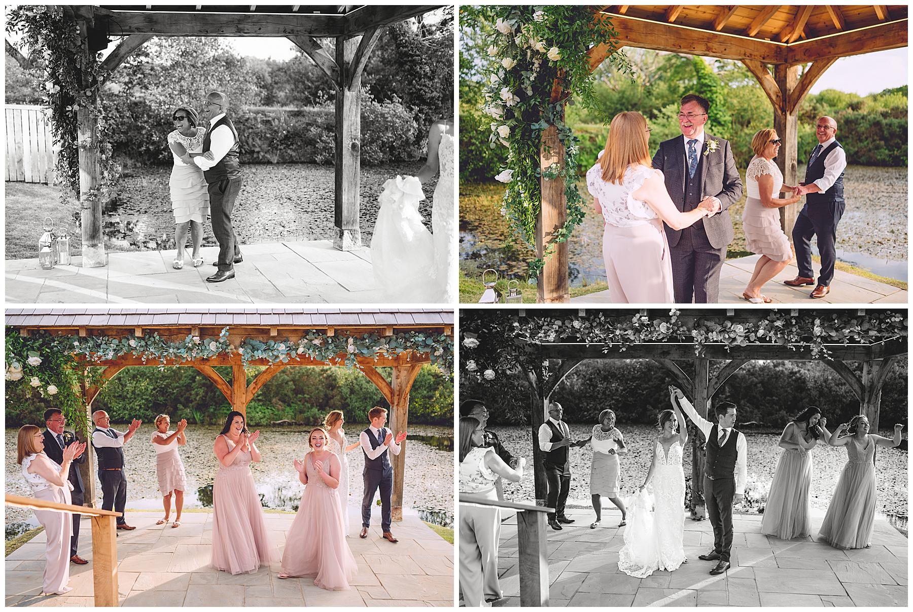 Wedding celebrations at Oldwalls Gower