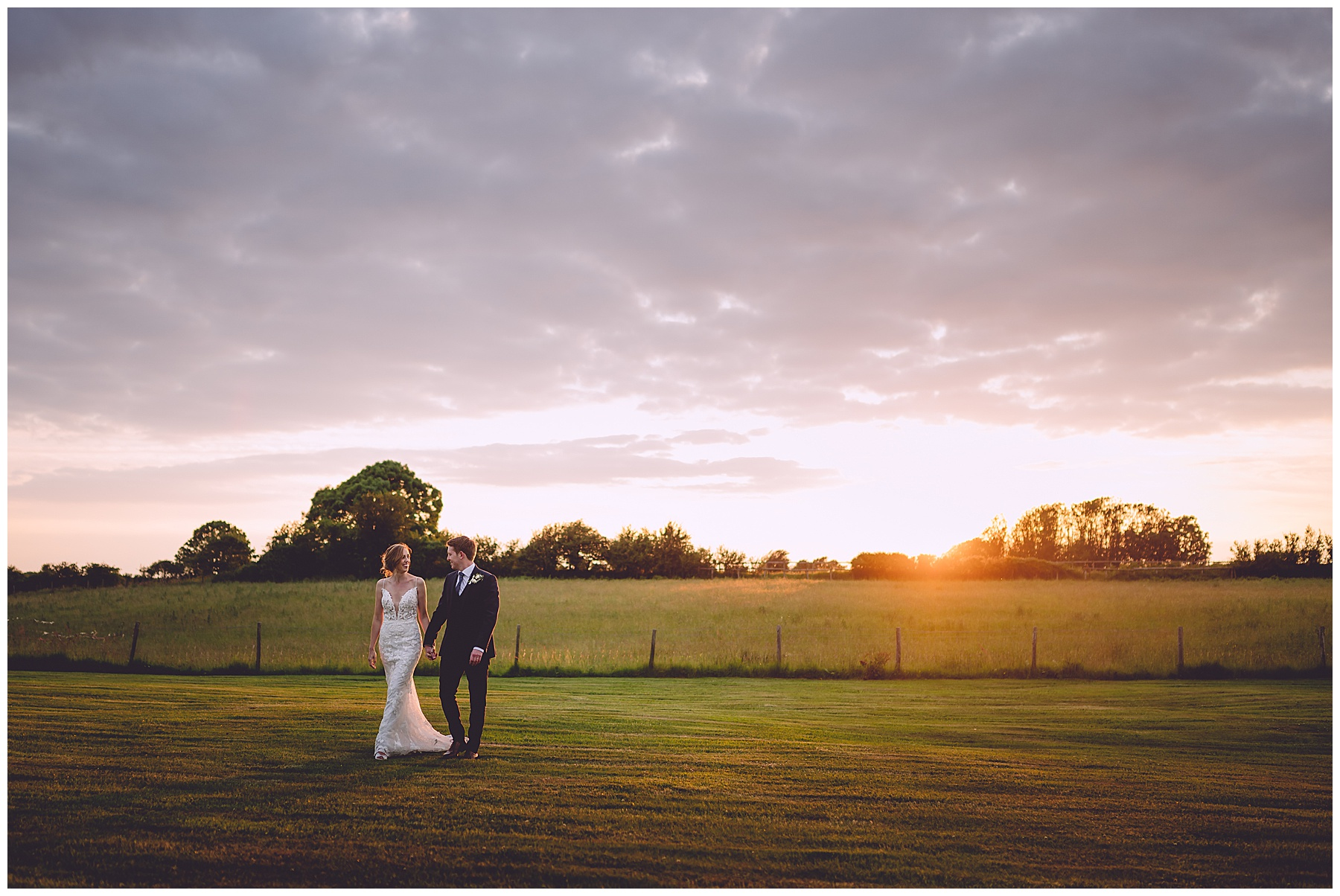 Sunset photos at Oldwalls Wedding