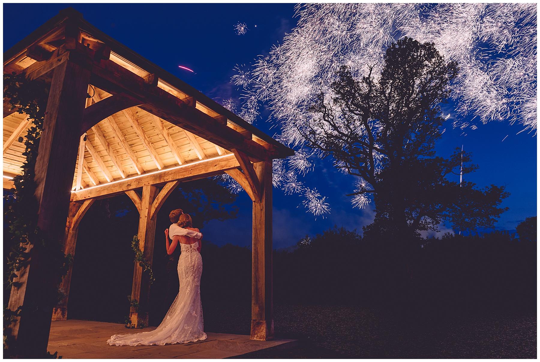 Fireworks at Oldwalls Wedding