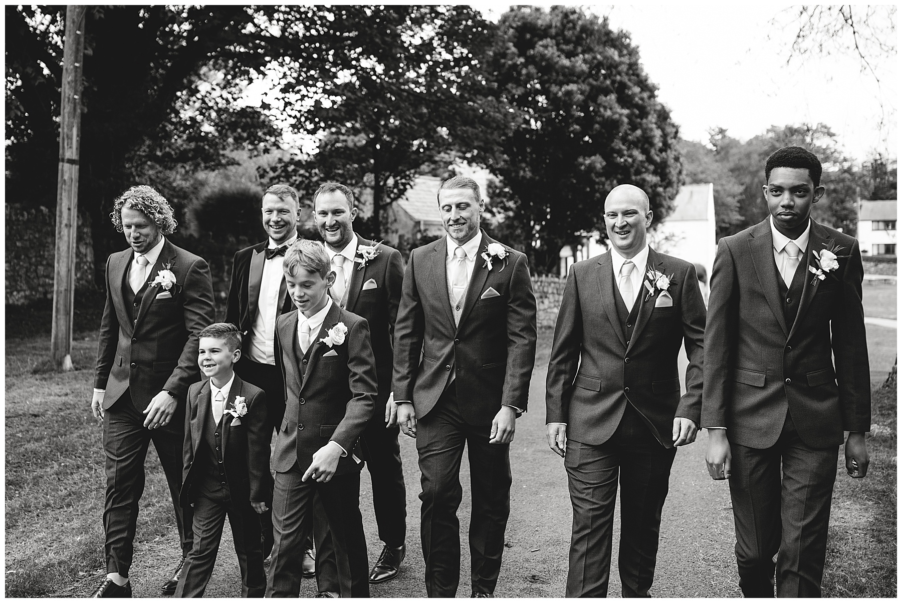 Groom Arriving at Wedding