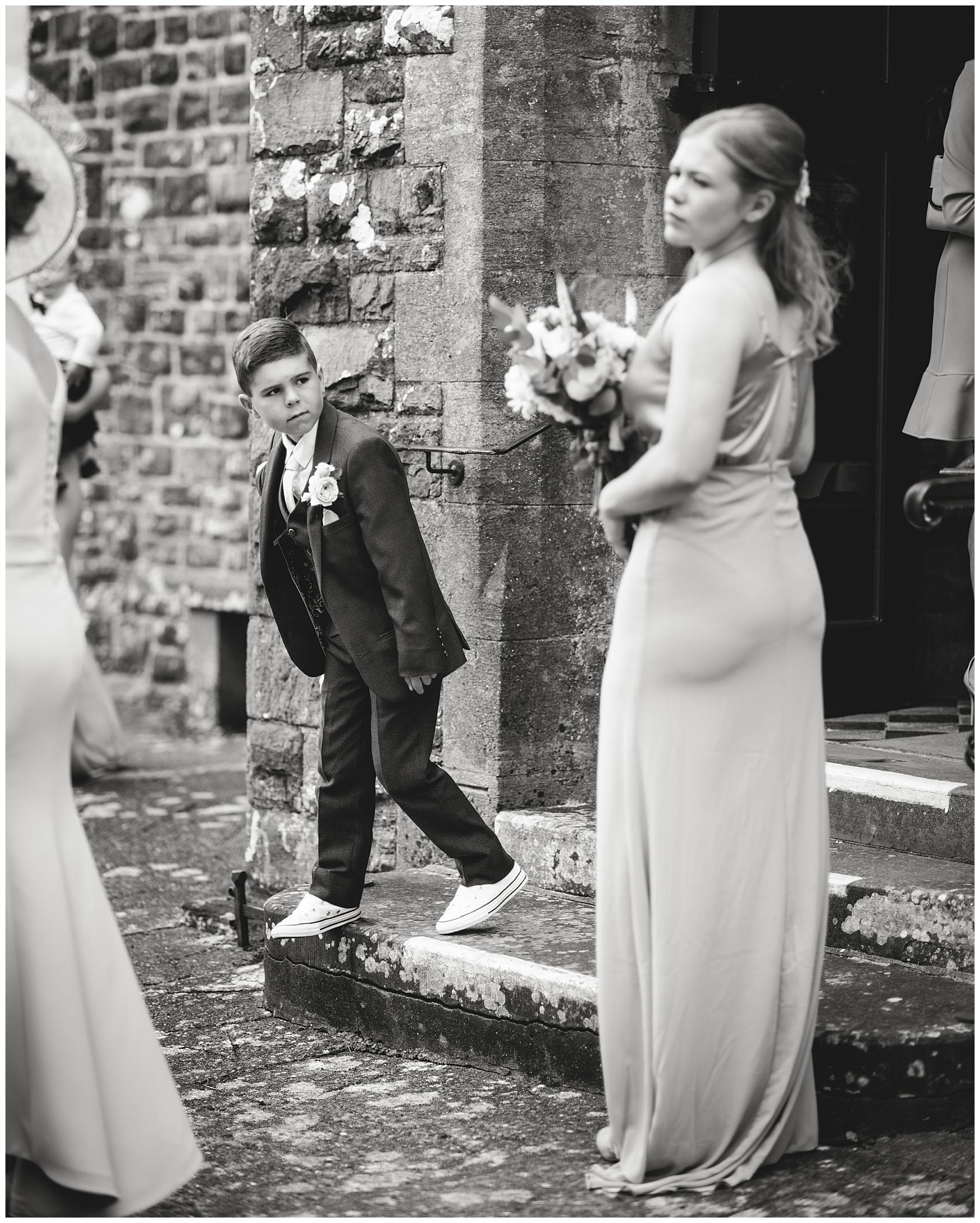 Page Boy at Church Wedding