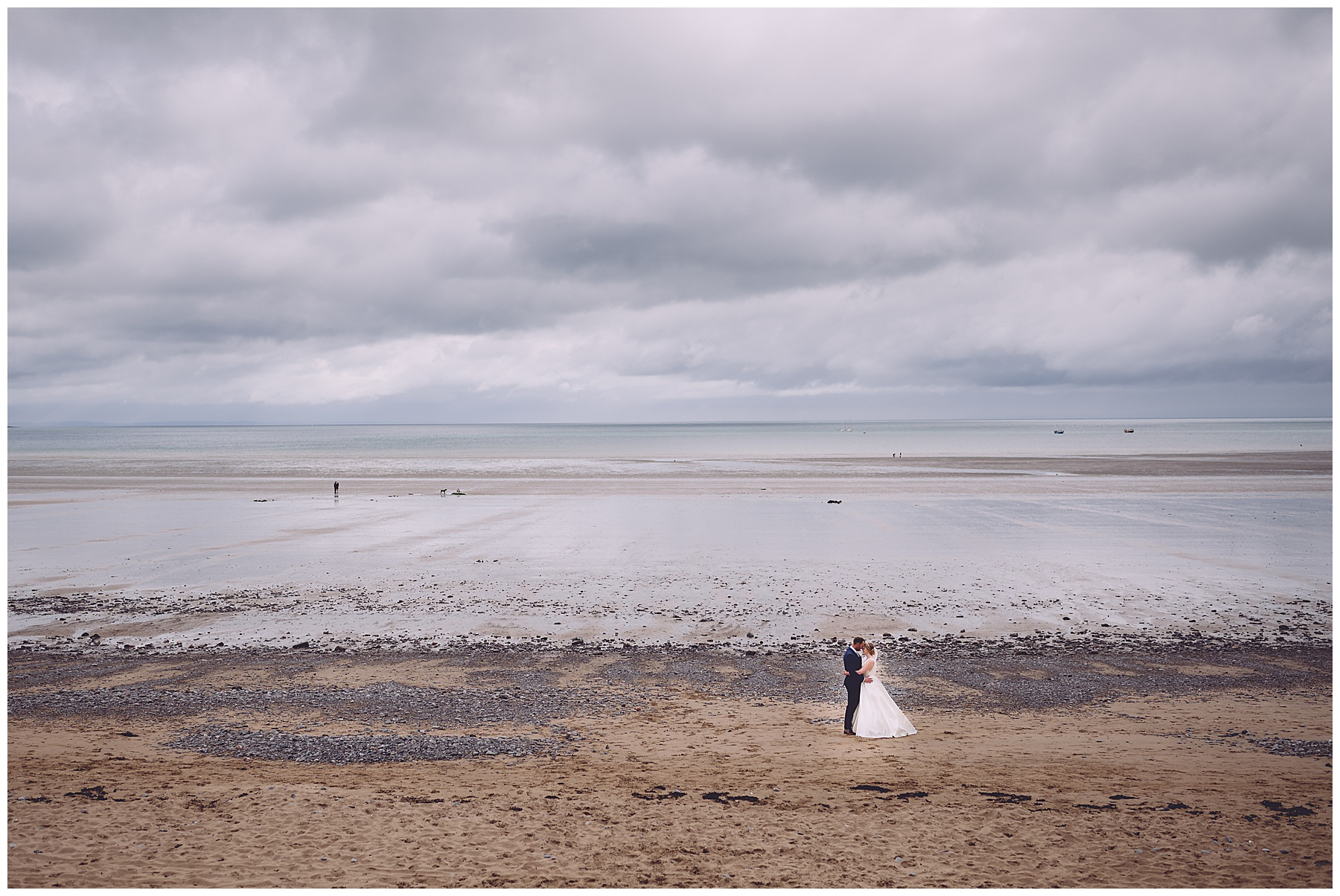 Bride & Groom at Oxwich Bay