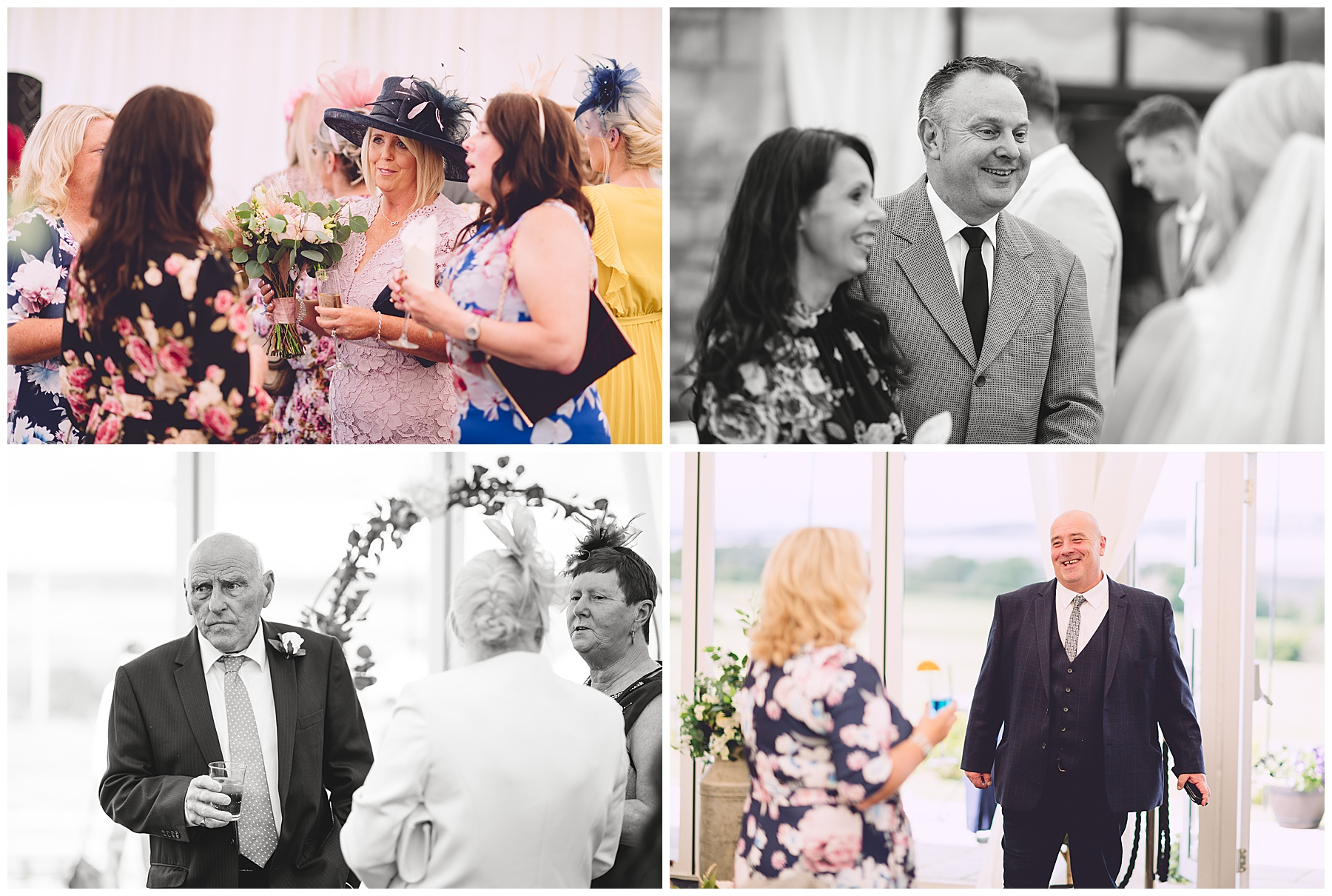 Wedding Guests at Ocean View Gower