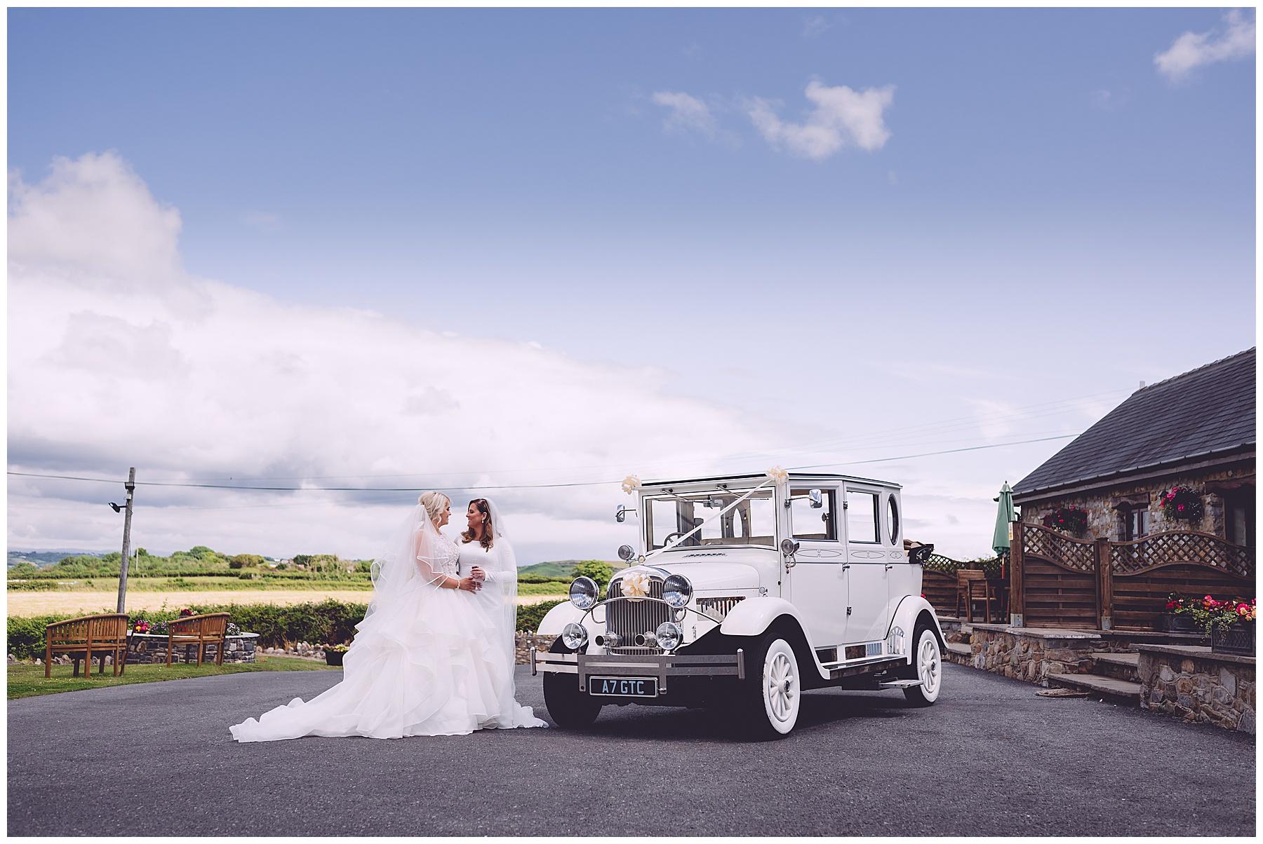 Wedding Car at Ocean View Gower Wedding