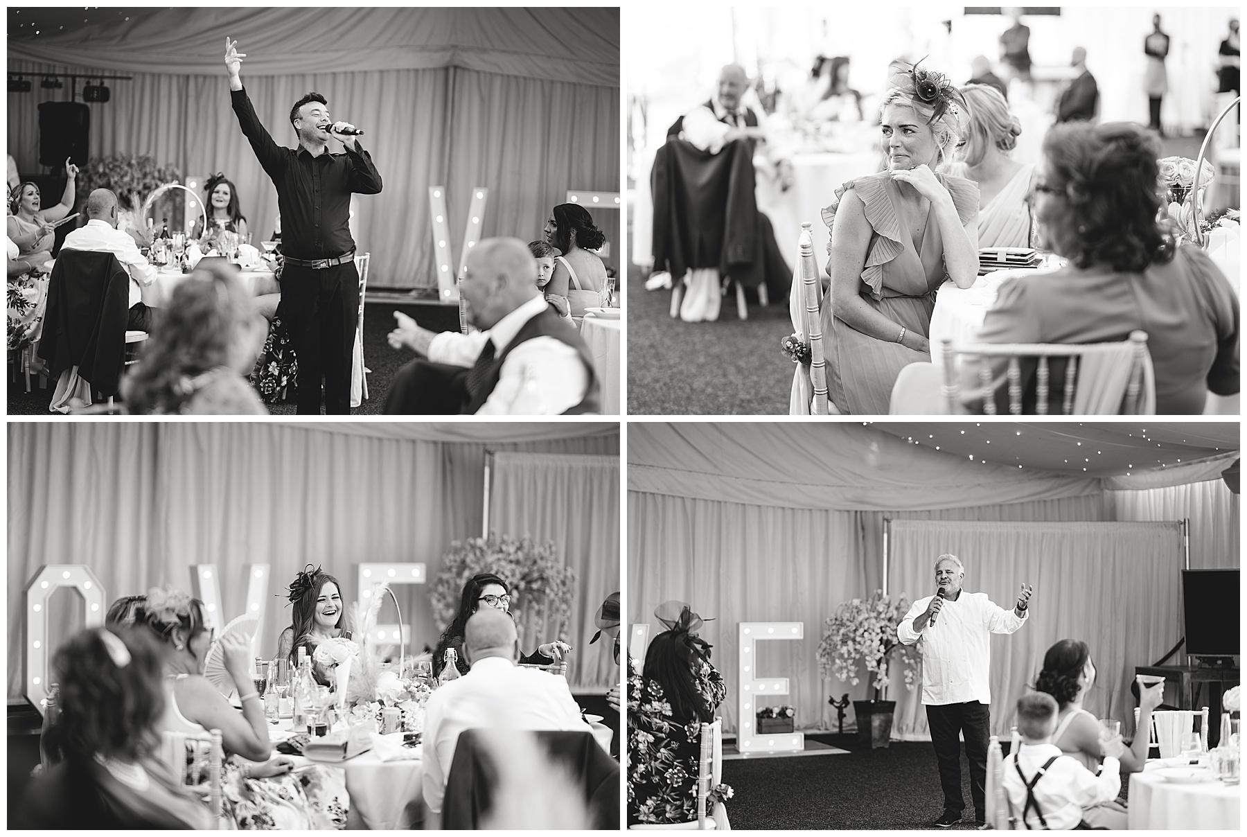 Singing Waiters at Swansea Wedding