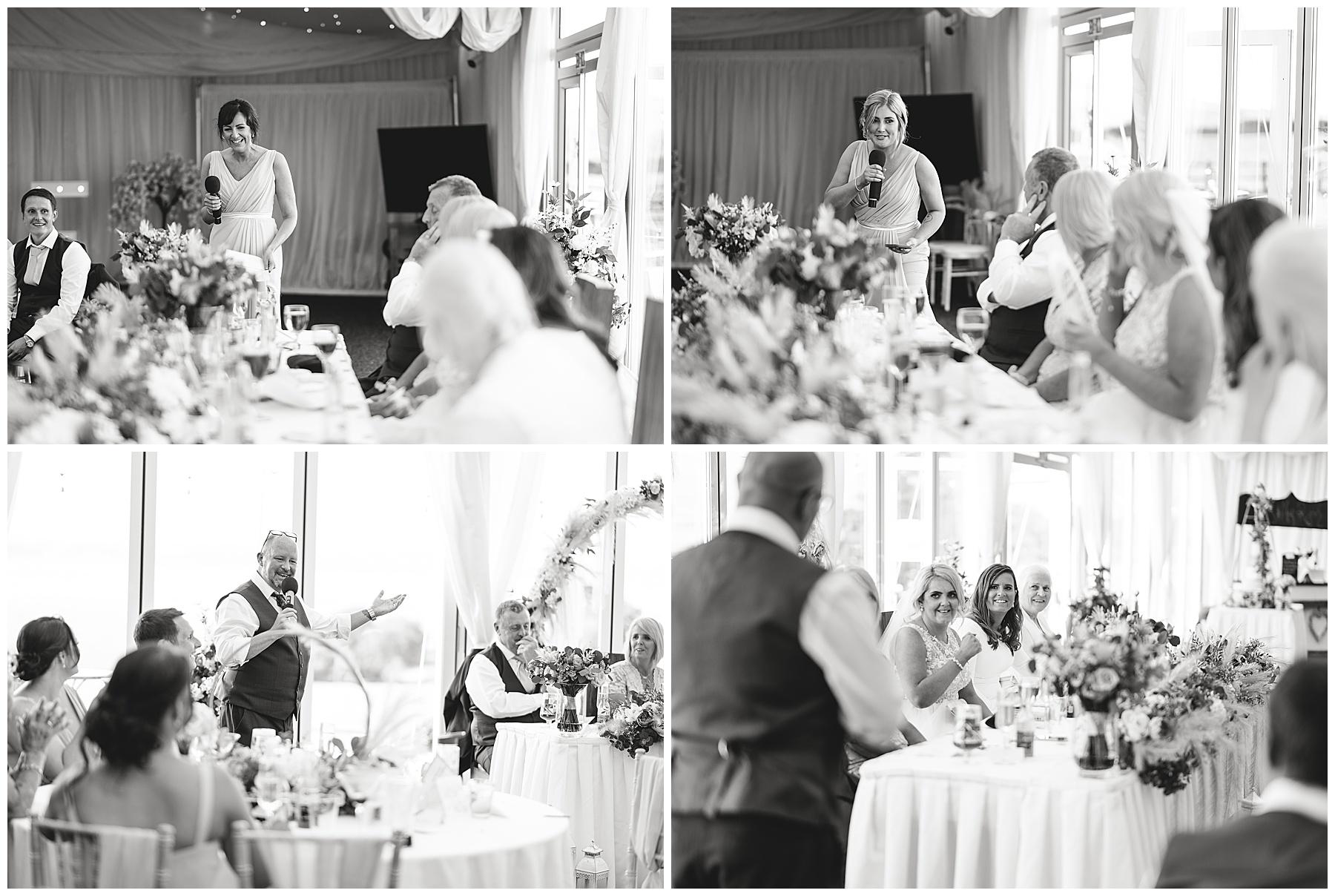 Speeches at Ocean View Wedding
