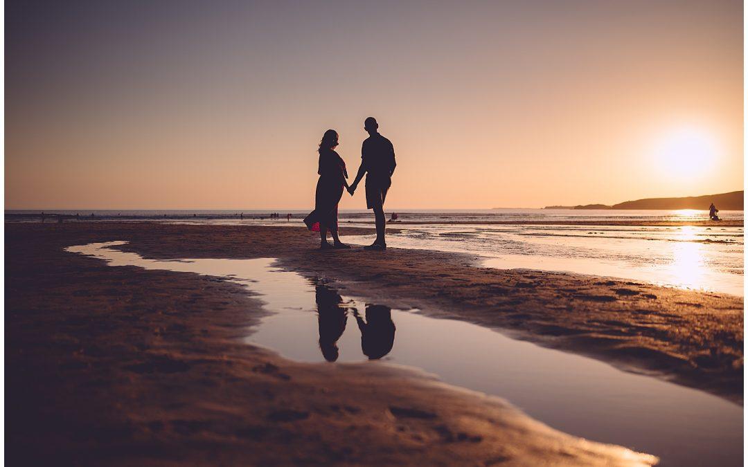 Freshwater West Pre Wedding – Sian & Jake