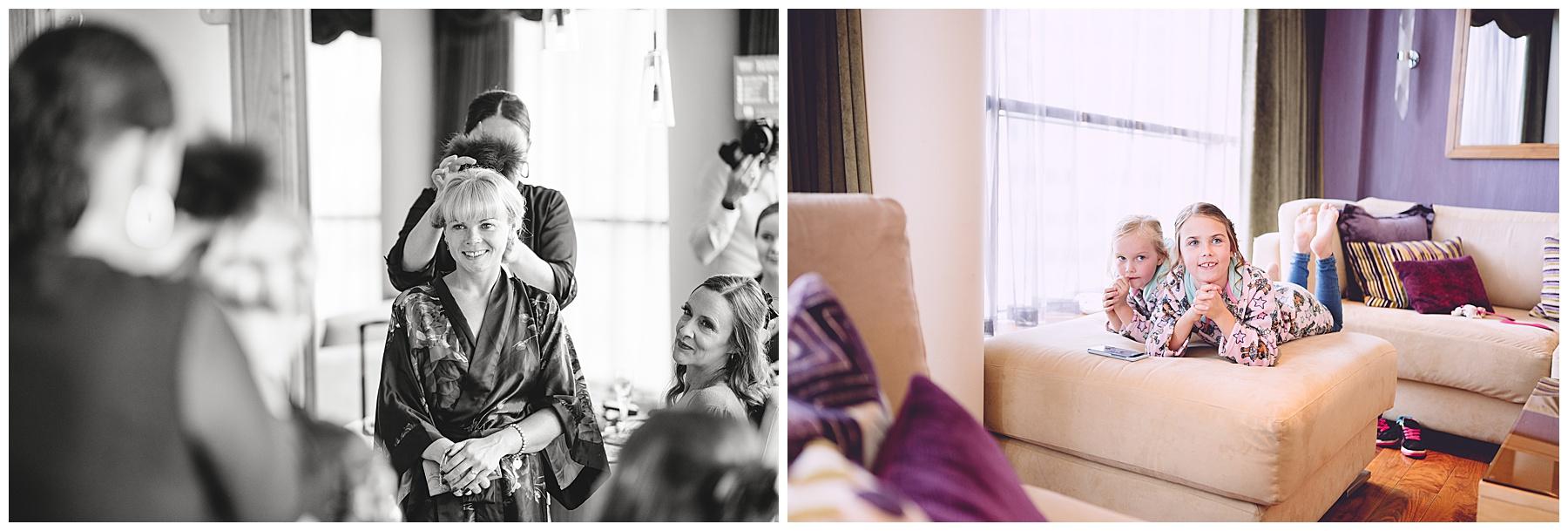 Bridal Preparations at Hilton Hotel