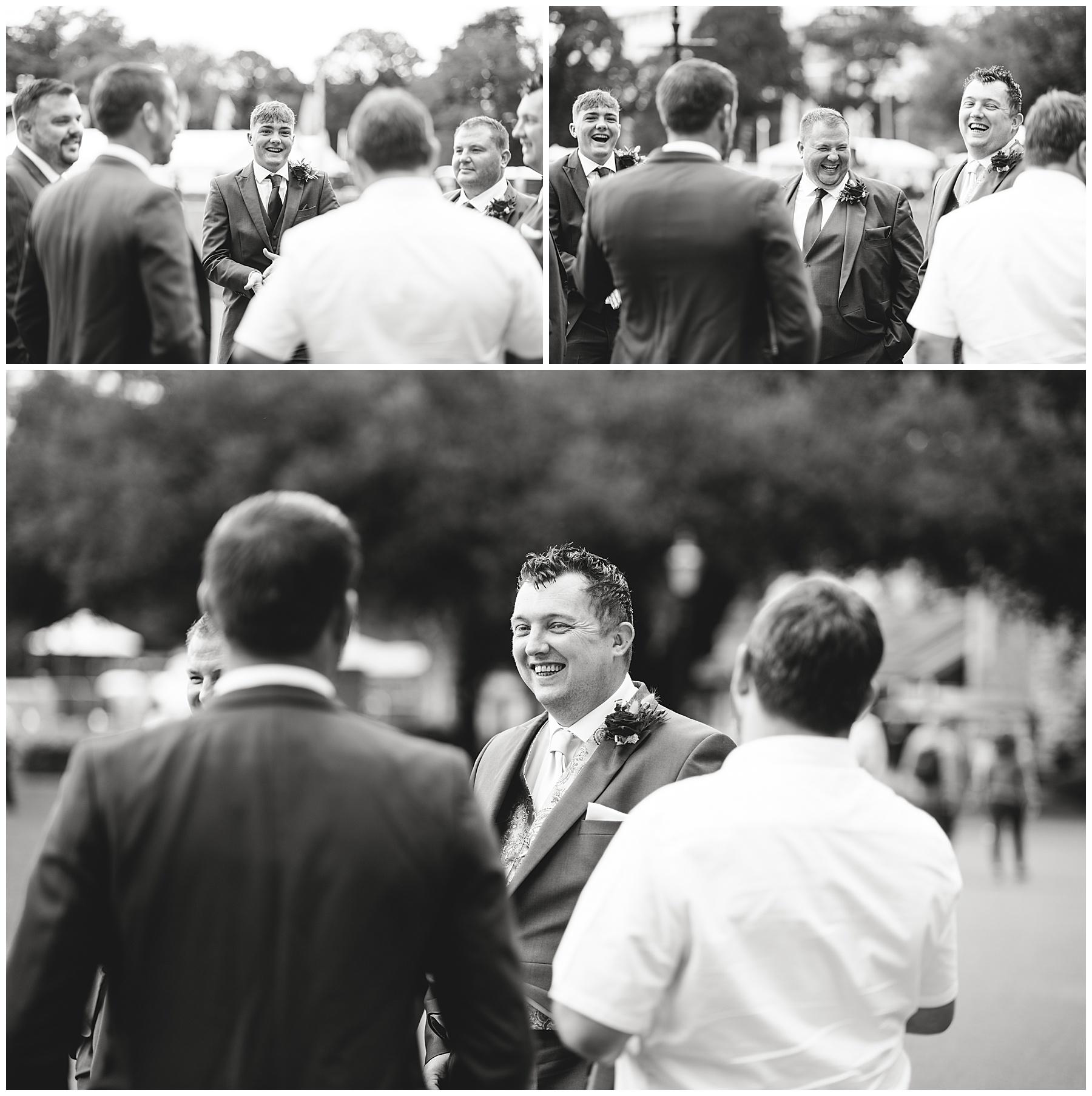 Groom at Cardiff Castle Wedding