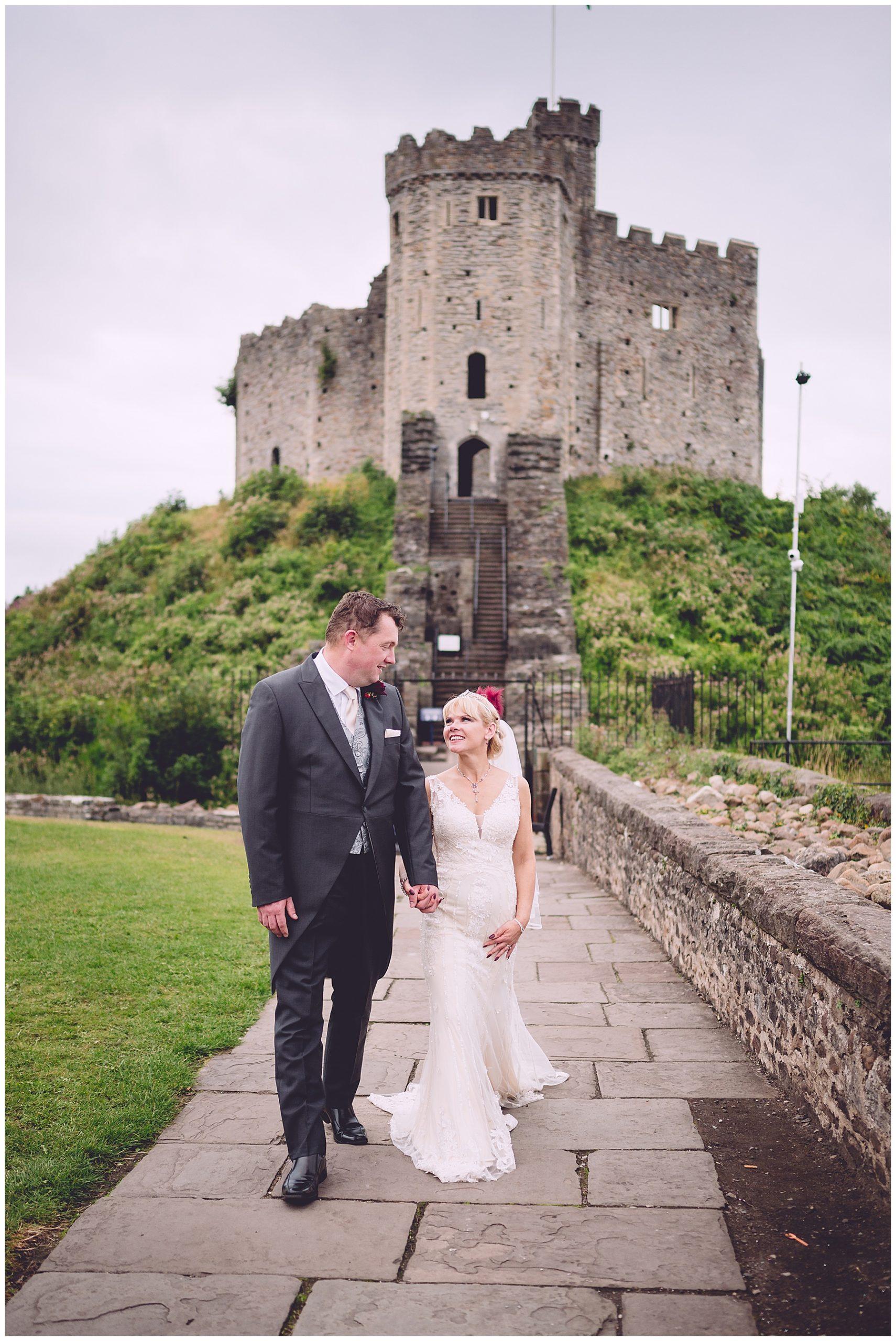 Bride & Groom at Cardiff Castle